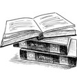 sketch of three books vector image vector image
