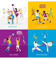Sport Games Concept vector image vector image