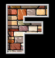 stone letter F vector image vector image
