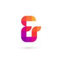 symbol and ampersand mosaic logo icon design vector image
