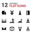 tower icons vector image vector image