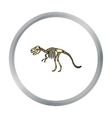 Tyrannosaurus rex icon in cartoon style isolated vector image vector image