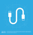 usb cable icon vector image