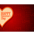 Valentines Day Greetings Card Background with Big vector image vector image
