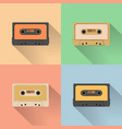 vintage audio tapes icon retro style vector image vector image