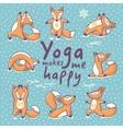 Yoga makes me happy vector image vector image