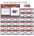 Desk calendar 2017 2018 vector image