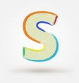 Alphabet letter S Watercolor paint design element vector image