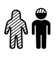 Broken Head and Body Icons Set vector image
