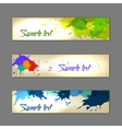 Set of colorful abstract watercolor banners vector image