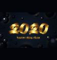 2020 happy new year background numeral text vector image