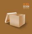 3d cardboard box icon vector image vector image