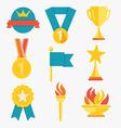 Award icons vector image vector image