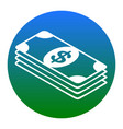 bank note dollar sign white icon in vector image vector image