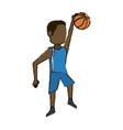 basketball player design vector image