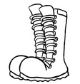 black and white pair of boots vector image