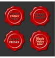 Black friday set of red wax stamps vector image vector image