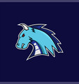 blue dragon e-sports logo vector image