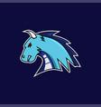 blue dragon e-sports logo vector image vector image
