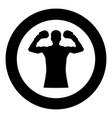 boxer icon black color in circle vector image
