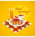 Breakfast Design Concept With Good Morning Wishing vector image vector image