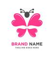 butterfly love logo vector image