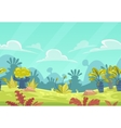 Cartoon seamless fantasy nature landscape vector image vector image