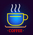 coffee logo flat style vector image