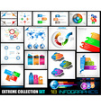 Collection of 18 Infographics for social media and vector image vector image