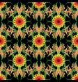 colorful vintage floral ornate seamless pattern vector image