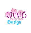 cookies original logo design emblem for vector image vector image