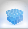 cubic constructed many blocks vector image