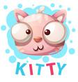 cute kitty cat characters - cartoon vector image vector image