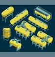 different storage tanks set vector image