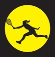 female tennis player silhouette vector image vector image