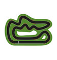 flat race track top view of track with marks for vector image