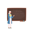friendly elderly female school or college teacher vector image