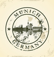 Grunge rubber stamp with Munich Germany vector image vector image
