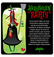 halloween witch template halloween series vector image