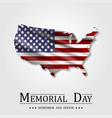 happy memorial day flag usa national american vector image