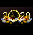 happy new year 2020 - new year shining background vector image vector image