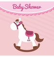 Horse of baby shower card design vector image vector image