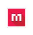 initial alphabet m logo design m letter icon vector image vector image