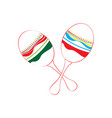 isolated maracas icon vector image