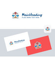 justice logotype with business card template vector image vector image