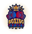 kings boxing golden crown vector image vector image