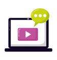 laptop social media vector image vector image