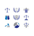 law logo collection vector image vector image