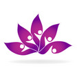 lotus flower abstract vector image vector image