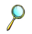 magnifying glass lens equipment color vector image vector image